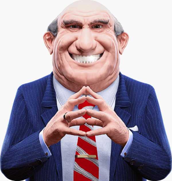 Charles - el personaje principal con una amplia sonrisa